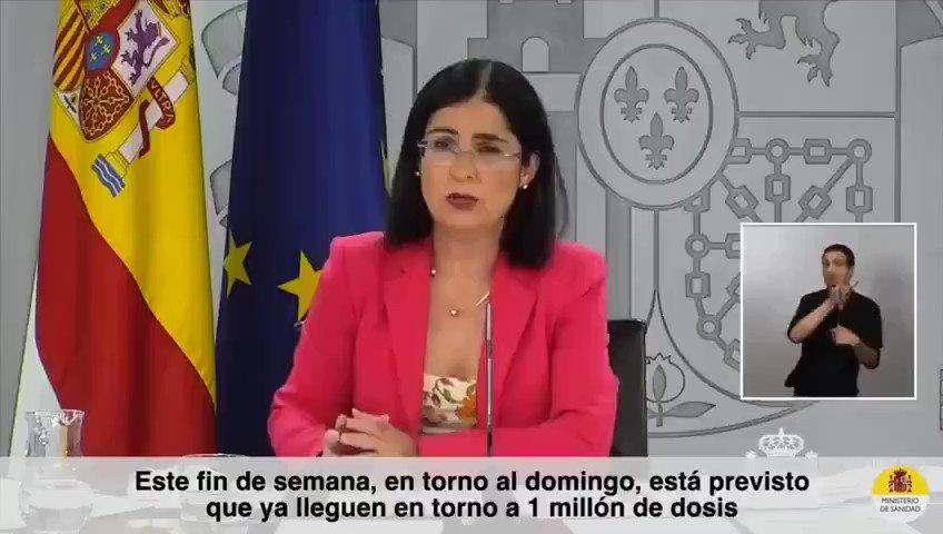 Twitter Ministerio de Sanidad. 📺@CarolinaDarias 📢 El próximo lunes s...: abre ventana nueva