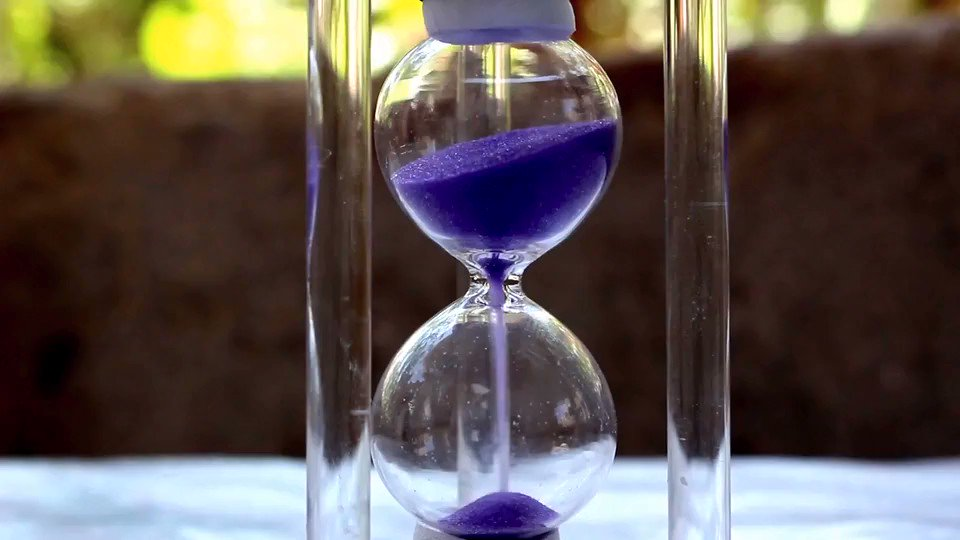 Image for the Tweet beginning: Time is running out. Color
