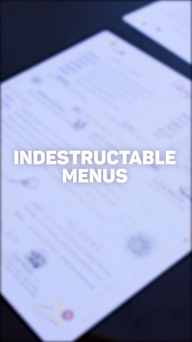 Image for the Tweet beginning: WOAH!! INDESTRUCTIBLE menus?! Yes you
