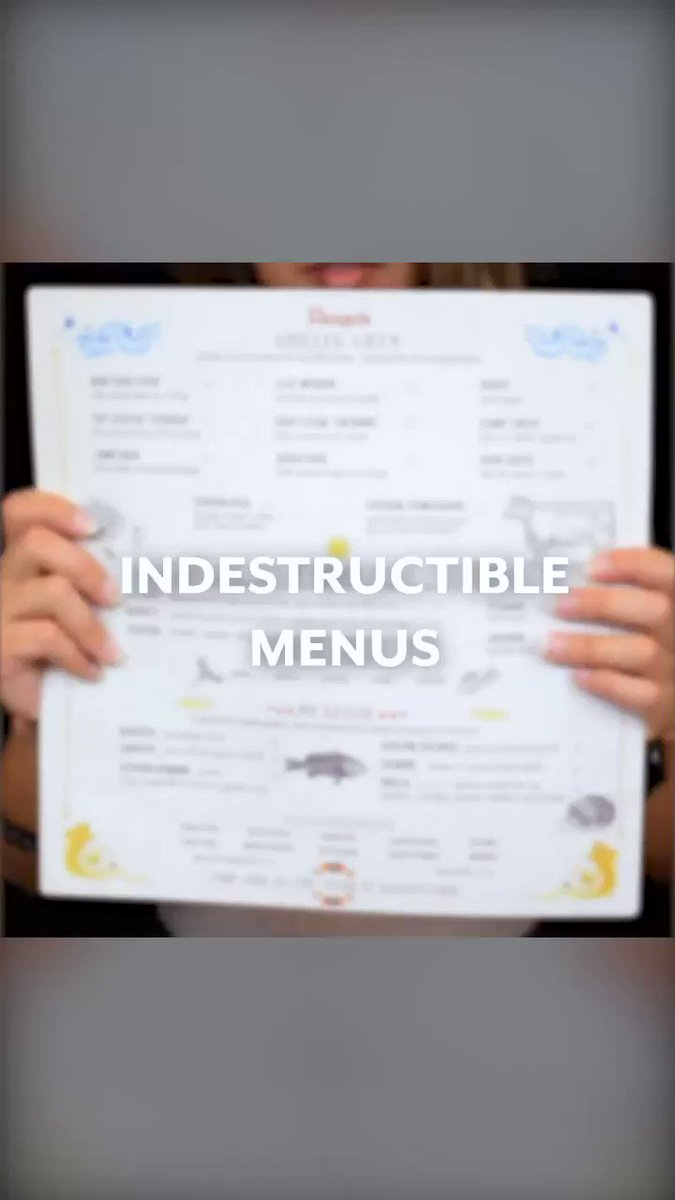 Image for the Tweet beginning: INDESTRUCTIBLE MENUS PT.2! Looking for the
