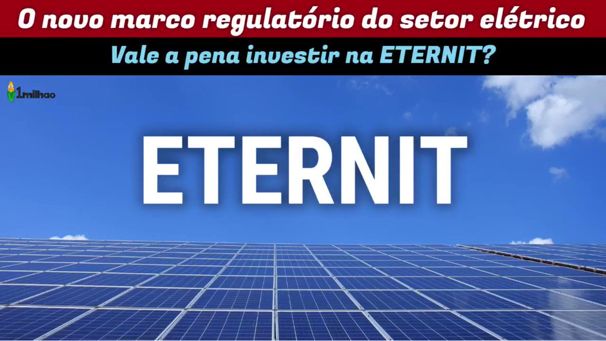ENTENDA (DE VEZ) O NOVO MARCO REGULATÓRIO DA ENERGIA ELÉTRICA +   ETERNI... https://t.co/L28ygT4g0w via @YouTube  Boa noite #marcoregulatorio #energiaeletrica #eter3 #eternit #swingtrade #analisetecnica