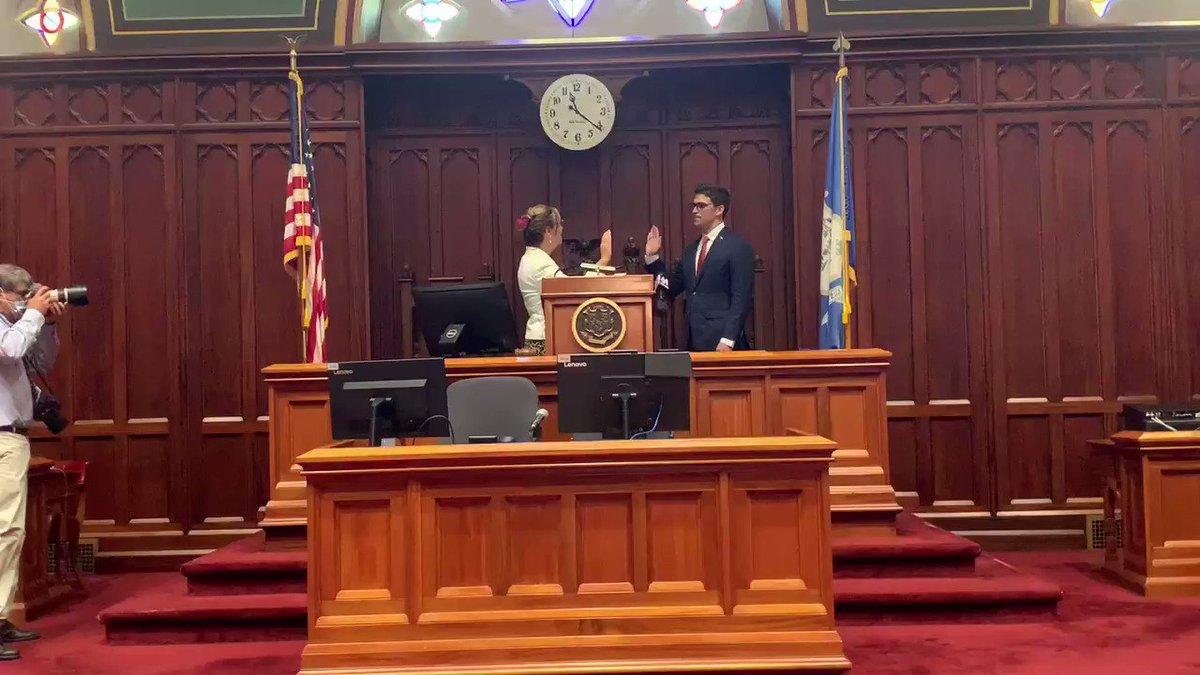 Image for the Tweet beginning: @ryanfazio sworn in as NEW