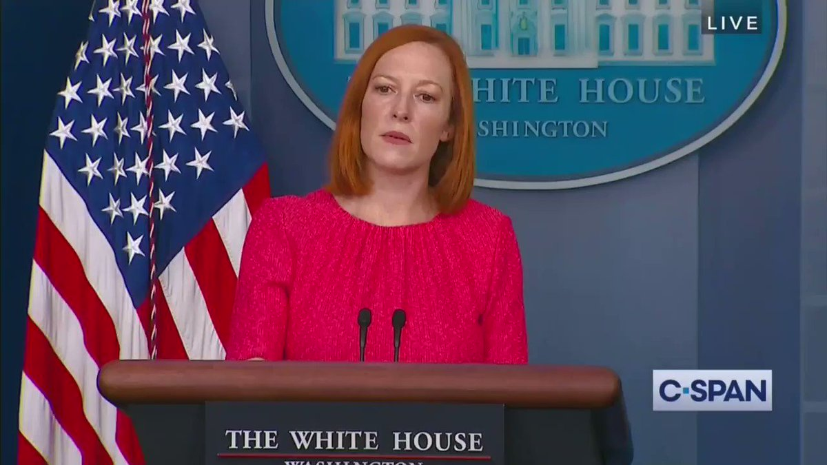 Image for the Tweet beginning: Psaki on Republicans calling for