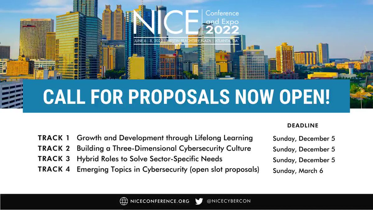 Image for the Tweet beginning: 📢Call for Proposals is now