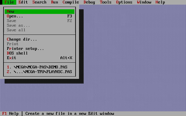 Great and easy to start with #Borland Turbo Pascal and Turbo Vision IDE.  👍👍👍