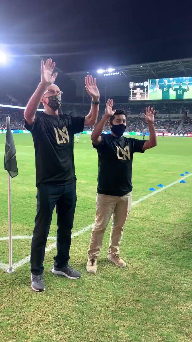 Let's go @LAFC v @realsaltlake #MLS #LAFCRSL #lascores #americascores #FJLAFamilia
