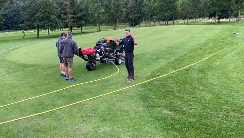 Image for the Tweet beginning: Dryject at Kilnwick Percy GC.