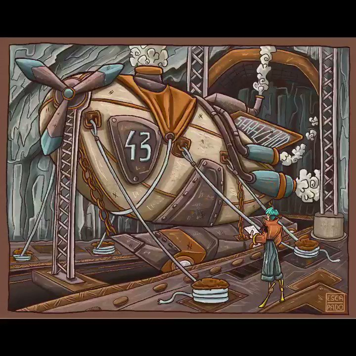 My Daily #Steampunk ⚙️ #Geek 🤓 #Space 🚀 #SamaCollection 🗞️ of Tweets ➡️ @antonbeletskii @LittleAlice06 ⭐ Feat. @EscapadoDraw ➡️ View More Selections 👉 https://t.co/qcfYSHoava