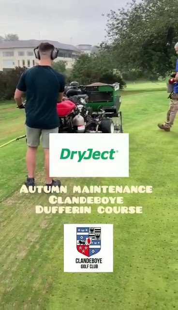 Image for the Tweet beginning: Greens maintenance with @DryJect Have