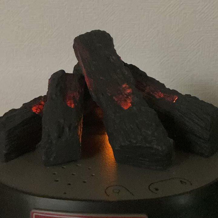 3月に注文してて忘れてた「焚き火の置物」が届いた