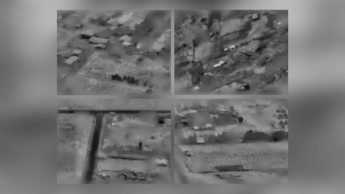 فيديو الغارات الجوية التي شنتها الطائرات الحربية على مواقع لحماس الليلة ردًا