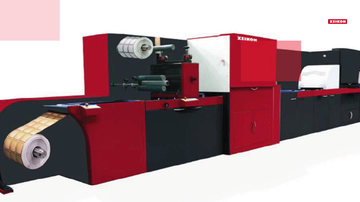 Image for the Tweet beginning: The Xeikon #FusionEmbellishmentUnit offers label