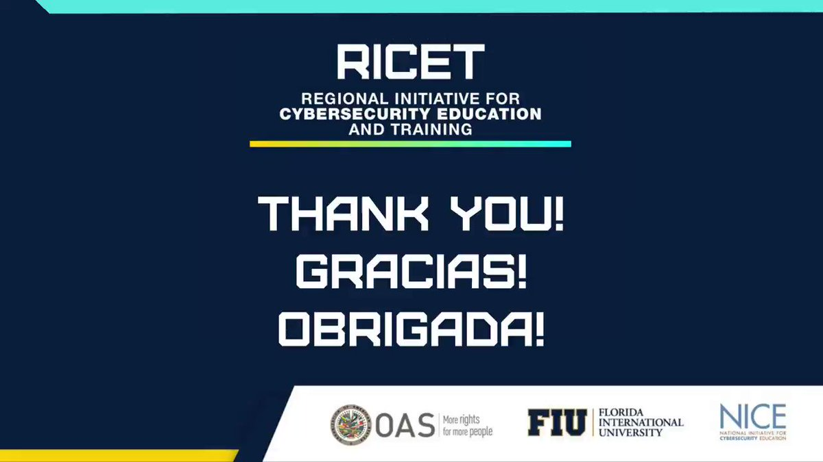 Image for the Tweet beginning: That's a wrap for #RICET2021!