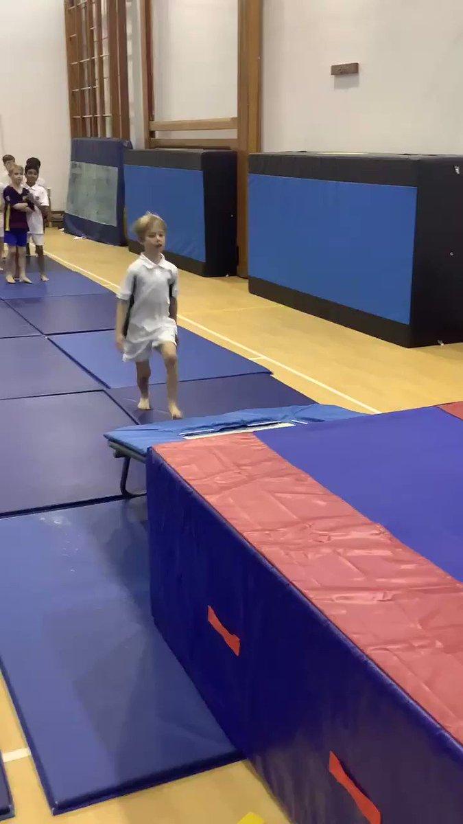 Some great trampette work in the first KS2 Gymnastics Club. @SHSBoysPrep @TraceyChongSHS