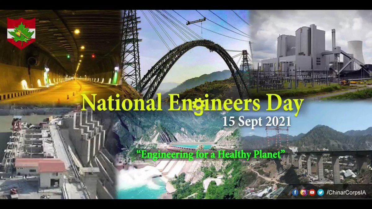 """""""Engineers combine effort with efficiency which turns dreams into reality""""  On #EngineersDay, #ChinarCorps pays humble tribute to Shri M Visvesvaraya & salutes all engineers for carrying forward his legacy & transforming #India with their innovations.  #Kashmir @adgpi @MinOfPower https://t.co/U90mxHxnQg"""