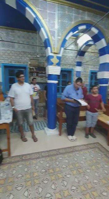 صلوات الاستغفار عشية عيد الغفران اليهودي في جربة التونسية . يعيده على الجميع