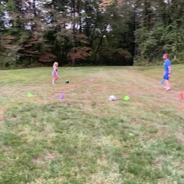 """""""Can we practice?""""⚽️She knows making an all-star team this season will be a challenge but she's putting in some work.👏🏻👏🏻 #teachablemoment #whethershemakesitornot #yougogirl"""