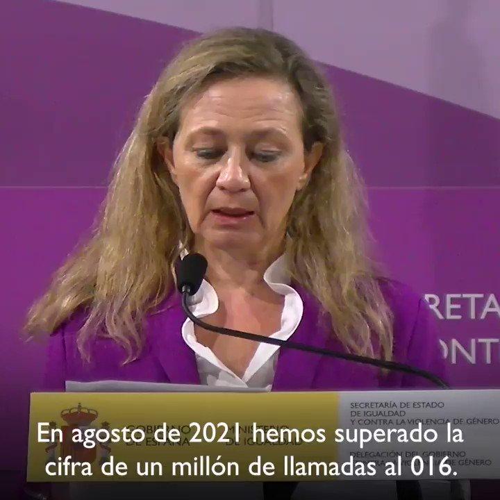 Twitter Delegación del Gob. contra la Violencia de Género. 🗨️ Este dato significa la consolidació...: abre ventana nueva
