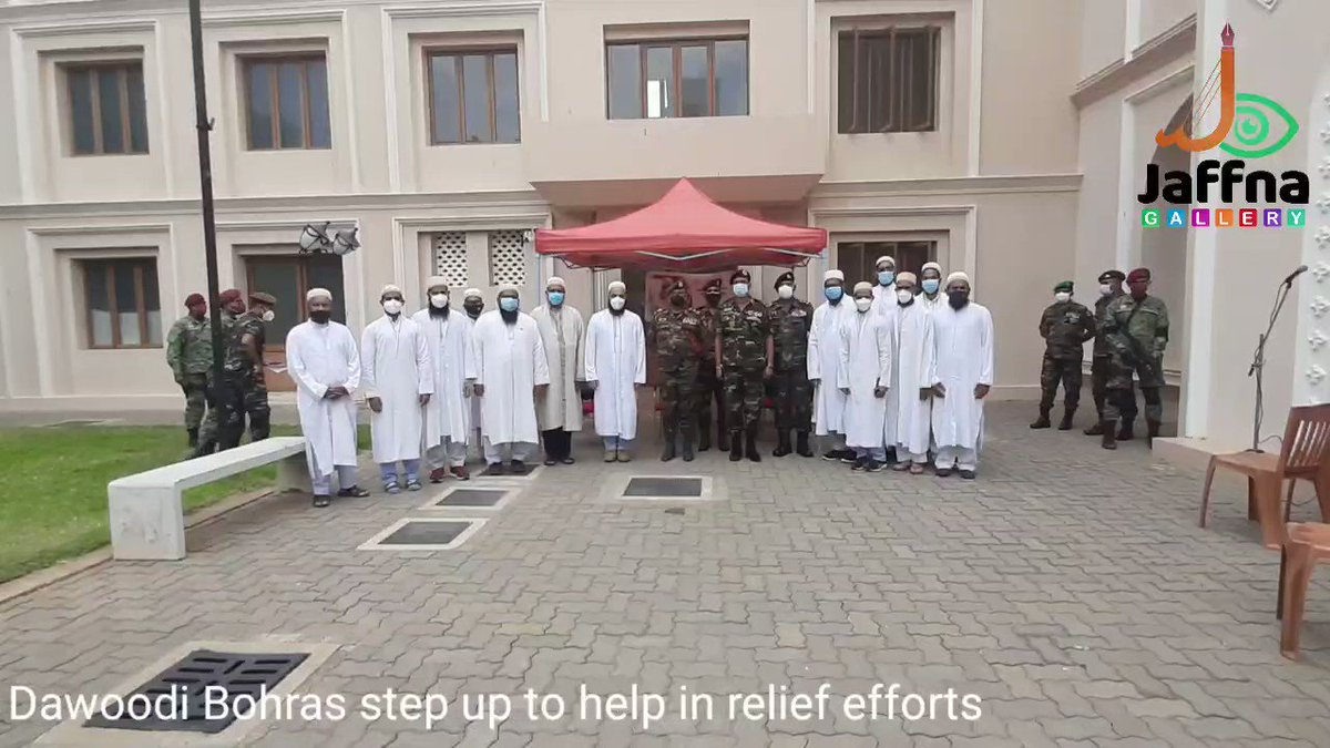 We feel privileged to serve the army personnel in Jaffna #SriLanka for their selfless service throughout the pandemic, particularly during vaccination programmes.   #TogetherStronger #DawoodiBohra