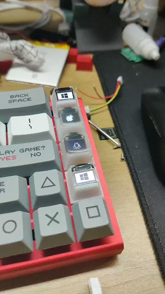 4 custom function OLED Keys on Sipeed Opensource Mechanical Keyboard~