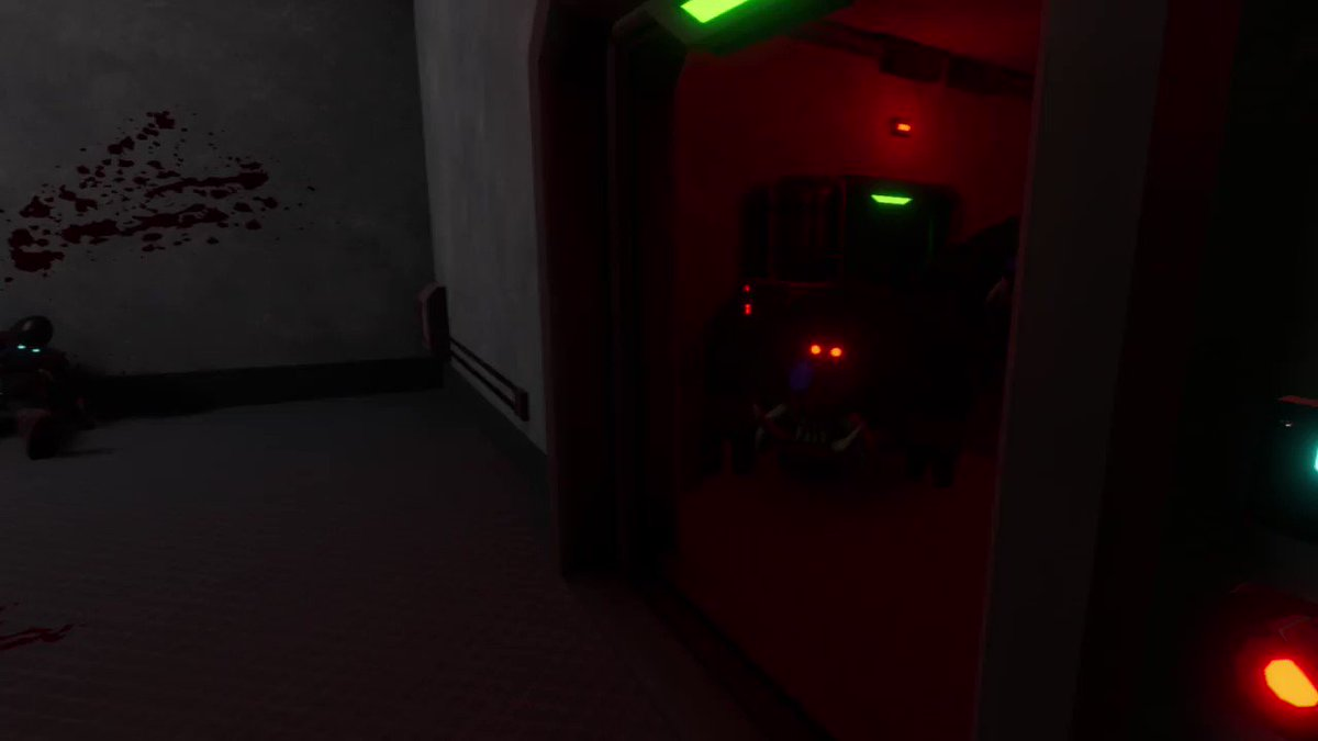 Another clip from the upcoming #EscapeFromMandrillia trailer for the #itchio launch… Pretty proud of that shotgun shot😂  #gamedev #screenshotsaturday #IndieGameDev #indiedev #horrorgame #madewithunity #vr #VirtualReality #solodev #monke