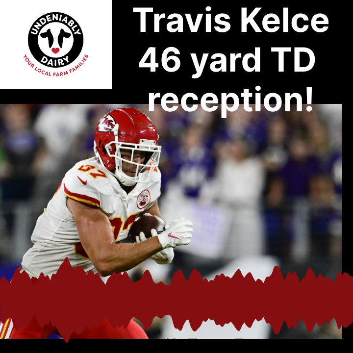 Image for the Tweet beginning: Travis Kelce with a 46