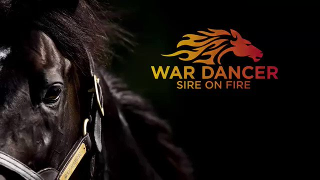 @WarDancerStud-Sire on Fire Pop the Bubbly wins the opener at Belmont on Sunday pushing her earnings over $100,000. War Dancer's success carries over from Saratoga where his 8 winners made him the leading second crop sire at the meet. @IrishHillFarm