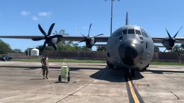 TSgt Michael Johnson, 803rd AMXS engine mechanic, is standing ground on a C-130J engine run. Johnson monitors the engine run from the ground ensuring there are no leaks, smoke, fire, or obstructions to the engine intakes or exhausts.   #MaintenanceMonday #ReserveReady