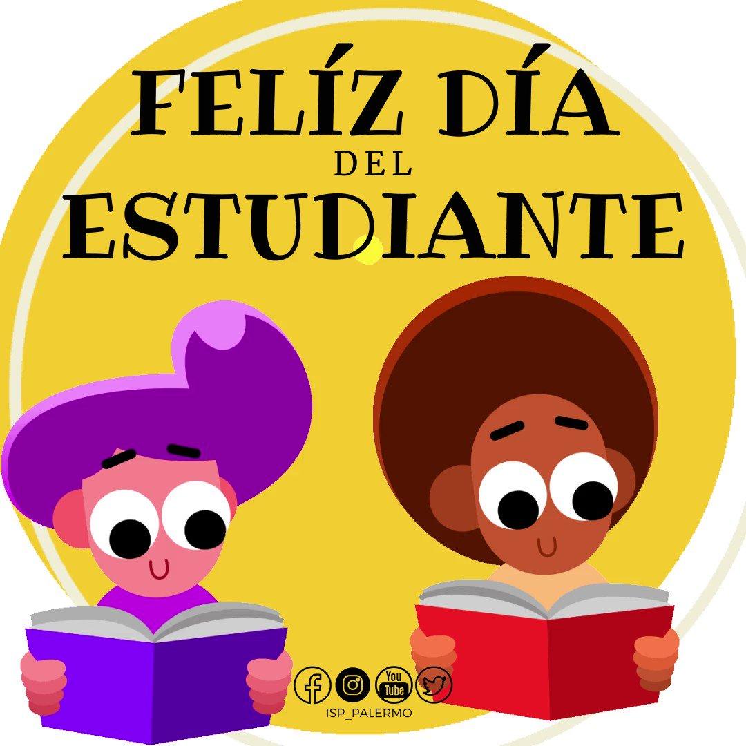 Image for the Tweet beginning: ¡Felíz Día del Estudiante!   Saludamos