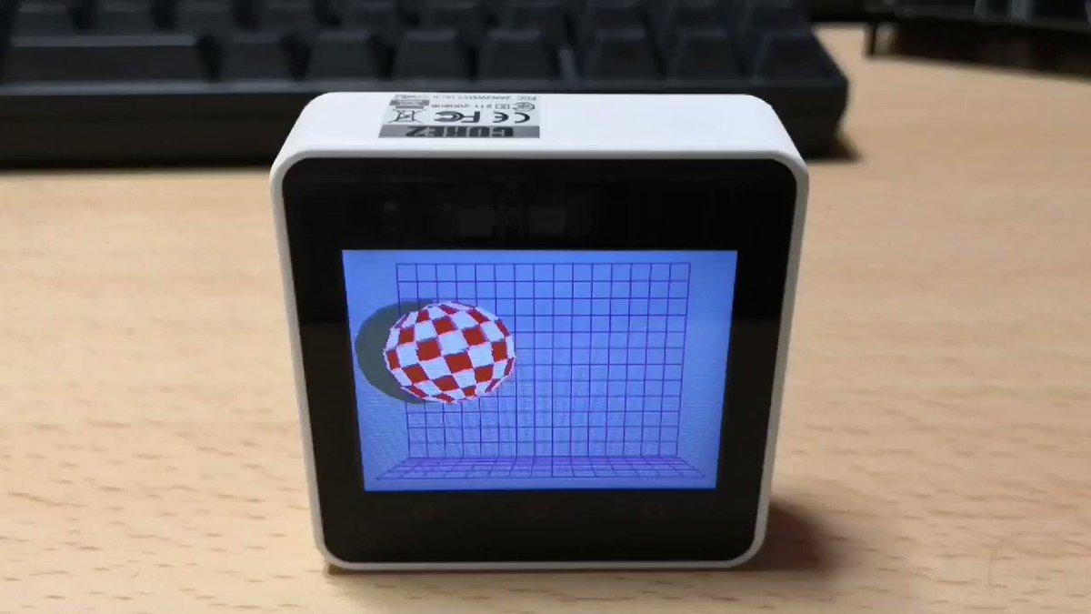 とても遅いけど、 TinyGo 単体で画面表示出来るようになった。コード整理して m5stack core2 対応として PR 作る予定。