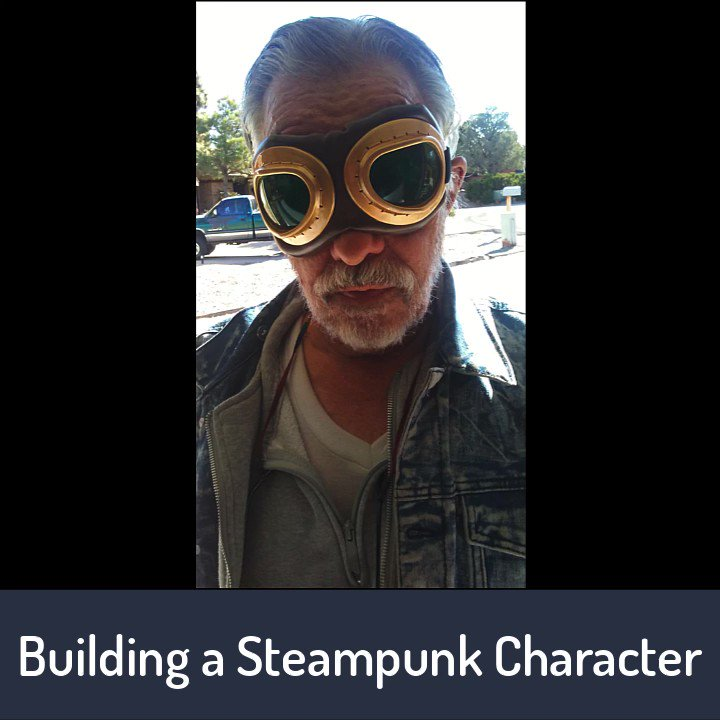 Watch this steam punk character get decked out, complete with assistants. #steampunk #photography #composite