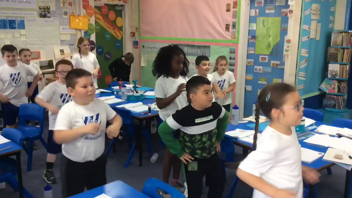 Image for the Tweet beginning: A quick @GoNoodle in our