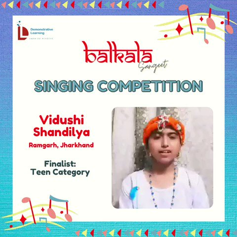 1) On @DemonstrativeLE  finalists for the Balkala Sangeet: Singing Competition 🎶  May listen to contestants & choose the best one (according to you) from given categories.  The deadline to cast your vote is Thursday afternoon i.e.22nd Sept @IVFoundation  @SainaRBharucha https://t.co/YOF1RVKHUl