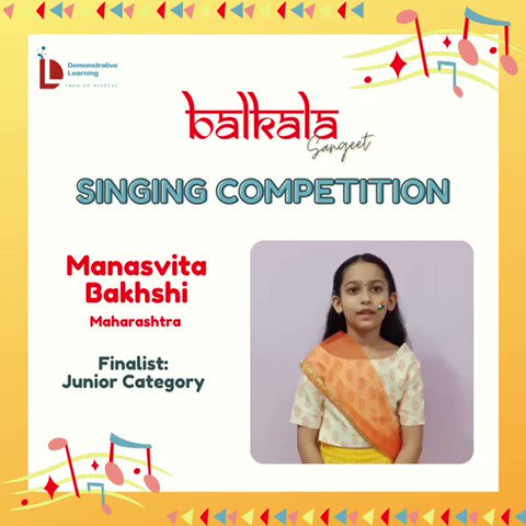 4) On @DemonstrativeLE  finalists for the Balkala Sangeet: Singing Competition 🎶  May listen to contestants & choose the best one (according to you) from given categories.  The deadline to cast your vote is Thursday afternoon i.e.22nd Sept @IVFoundation  @SainaRBharucha https://t.co/UjdSOWskEv