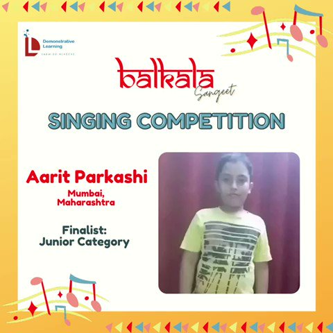 5) On @DemonstrativeLE  finalists for the Balkala Sangeet: Singing Competition 🎶  May listen to contestants & choose the best one (according to you) from given categories.  The deadline to cast your vote is Thursday afternoon i.e.22nd Sept @IVFoundation  @SainaRBharucha https://t.co/7UcHlrr5LX