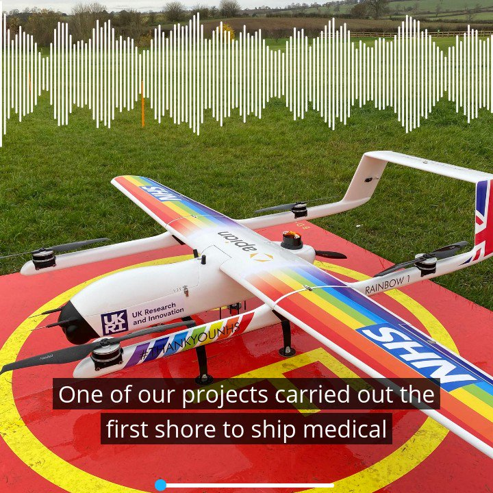 The @UK_CAA was joined by @innovateuk's Simon Masters @UKRI_News' Dawn MacGregor in a new podcast, looking at how #drones could support future ways of working, specifically for the #NHS.  They discuss the #FutureFlight Challenge, the aims of the programme, and its achievements.