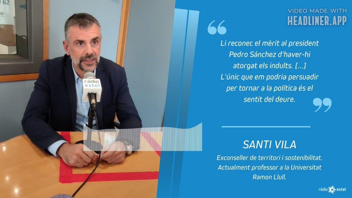 Image for the Tweet beginning: ENTREVISTA al @totanirabEstel | @SantiVila