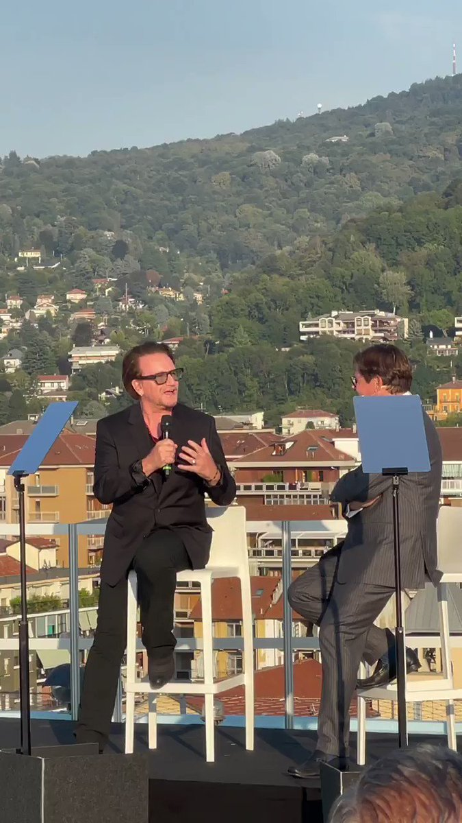 Bono with Olivier Francois speaking about (RED) @joinRED  https://t.co/570VXty1UJ  #PlantingTheSeedsofOurFuture https://t.co/eYu9aYcXB2
