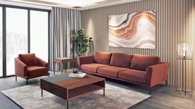 Modern ve sade detaylar ile yaşam alanlarına minimal tasarım anlayışı sunan JADE KOLTUK, PECAN SEHPA ile buluştu. ✨  #ndesignmobilya#ndesign#evdekorasyonu #pecan #jade #koltuk #sehpa #homeinteriors#furniture#art#interior#design#designoffice#livingroom#livingroomdesign