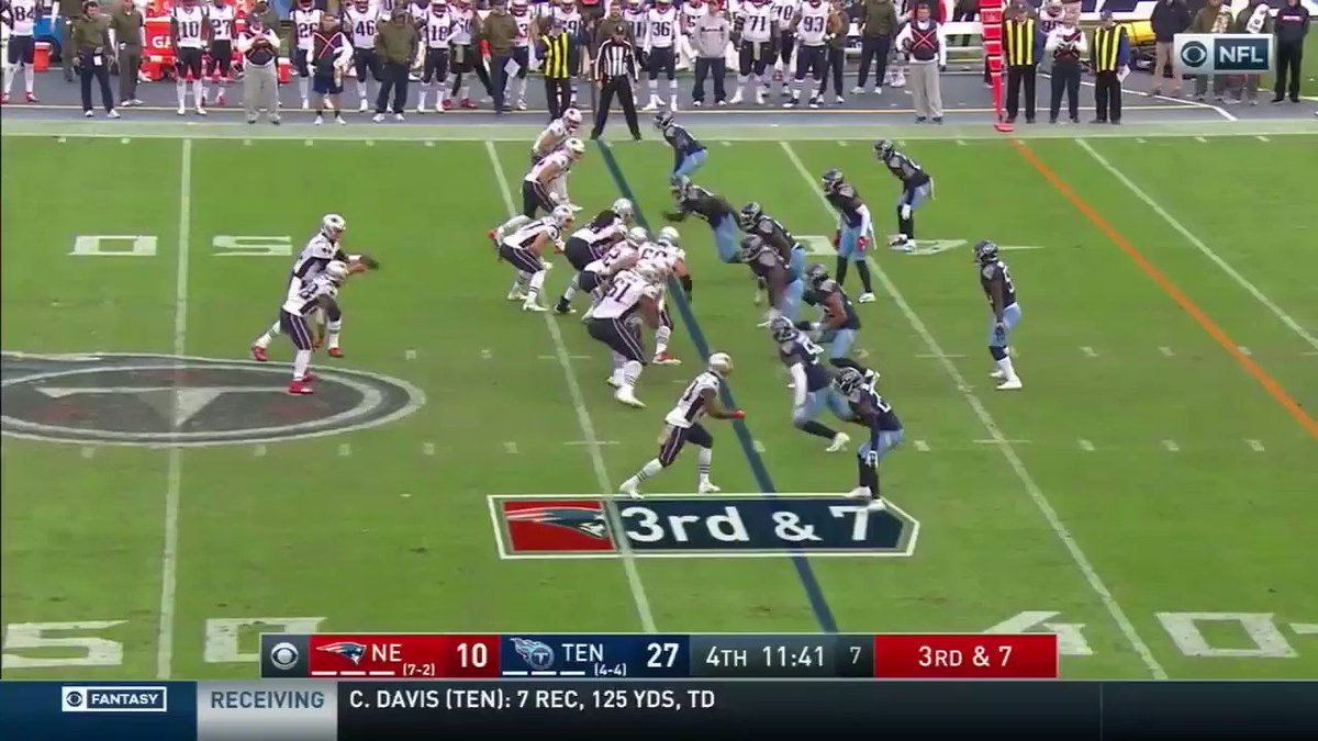 This play from '18 led to a torn MCL for Tom Brady, acoording to @kguregian in the Boston Herald.