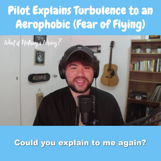 """What are you afraid of? Tonight 9pm ET LIVE AMA mental health. DM for privacy. Tomorrow on EP 23 of """"What If Nothing's Wrong?"""" Podcast https://t.co/2DEooux7Fi A pilot explains how flying is incredibly safe. This may lower your anxiety ⬇️⬇️ @WINWPod @NelsieSpencer @RonnieFWhaley https://t.co/axNy5Gr3BI"""