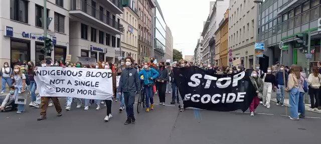 Berlin today #FridaysForFuture #ClimateStrike #MarcoTemporalNão