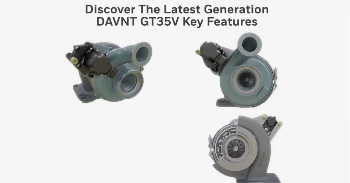Garrett Latest generation of Variable Geometry Turbo DAVNT (Double Axle VNT) offers robust and high performance-boosting solutions enabling fuel efficiency improvement, emission reduction and further enhanced engine braking capabilities.