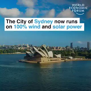 The city of Sydney now runs on 100% wind and #solarpower. Who's next? RT if you want your city to get a renewable upgrade.  We have the solutions to the #ClimateEmergency. Let's implement them. #ActOnClimate  #Climate #energy #GreenNewDeal #BuildBackBetter