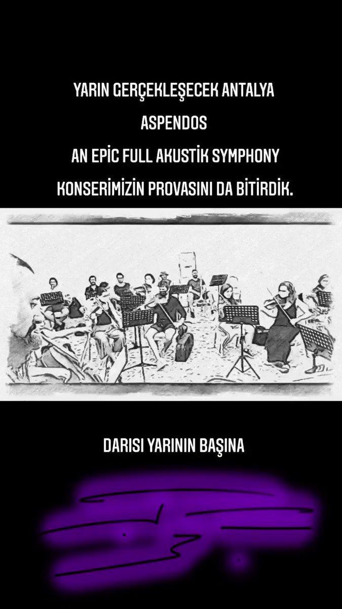 Yarın gerçekleşecek Antalya Aspendos An Epic Full akustik Symphony konserimizin provasını da bitirdik. Darısı yarının başına 🤘🎉🤘