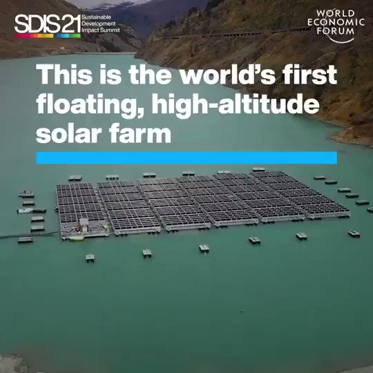 This is the world's first floating, high-altitude #solar farm. It can power 6,100 homes.  It's not because of a lack of solutions that we haven't addressed the #ClimateCrisis. Challenge power. #ActOnClimate   #ClimateEmergency #climate #energy #tech #BuildBackBetter