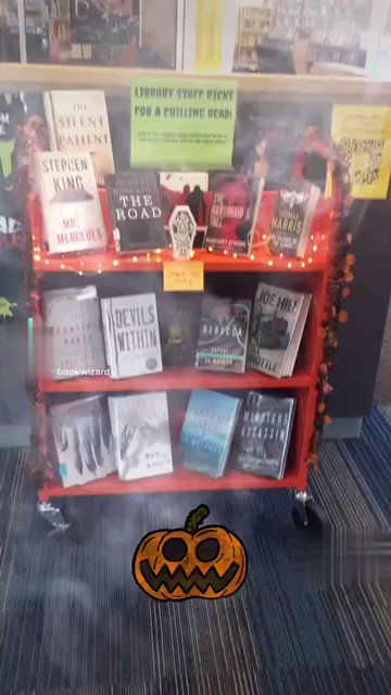 It's spooky time! 🎃 Ask us for recommendations & check our display of Staff Picks for a chilling read.  Trick or Treat! Dress up Friday, 10/29 or share your favorite scary book with us to receive a bag of treats! <a target='_blank' href='http://twitter.com/APSLibrarians'>@APSLibrarians</a> <a target='_blank' href='http://twitter.com/YorktownAPs'>@YorktownAPs</a> <a target='_blank' href='http://twitter.com/Principal_YHS'>@Principal_YHS</a>  <a target='_blank' href='http://twitter.com/YorktownSentry'>@YorktownSentry</a> <a target='_blank' href='https://t.co/4bmcykhYvF'>https://t.co/4bmcykhYvF</a>