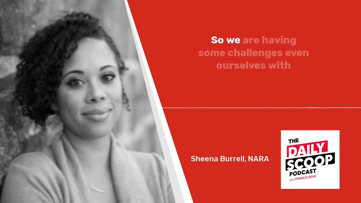 Image for the Tweet beginning: Sheena Burrell, Deputy CIO @USNatArchives