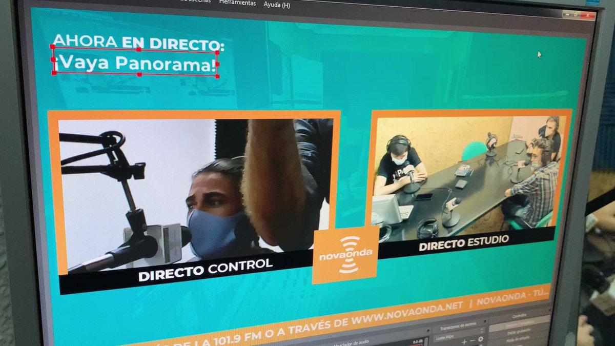 Image for the Tweet beginning: ¡VAYA PANORAMA! en directo !!! 📻📡🎙#novaonda