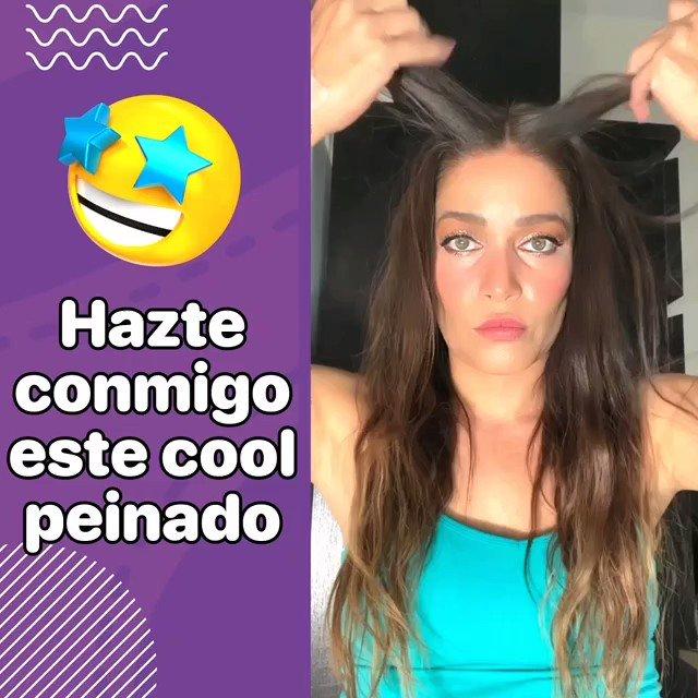 Hazte conmigo este cool peinado 😉❤️  #look #pelatzo #pelo #peinados #PonteGuapa #tips #tipsdebelleza #AdrianaTips #reels #felizsabado